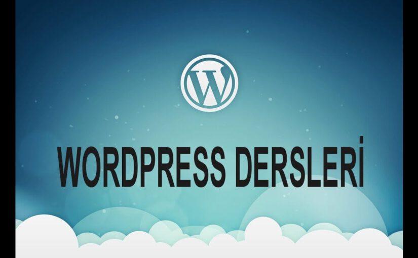 WordPress Tema Yapımı Dersleri
